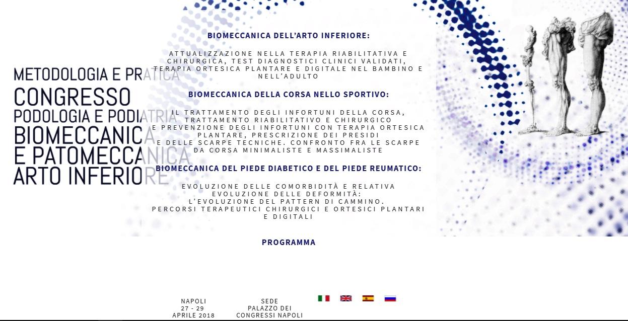 CONGRESSO MONDIALE PODOLOGIA E PODIATRIA NAPOLI 27 – 29 APRILE 2018